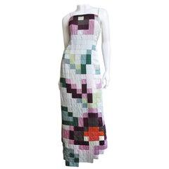 Moschino Color Block Maxi Dress
