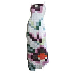 Moschino Color Block Patchwork Maxi Dress