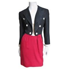 Moschino Color Block Tuxedo Dress