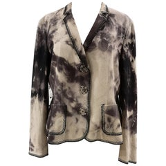 Moschino cotton brown and beige jacket