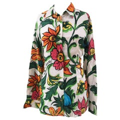Moschino cotton flowers shirt