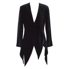 Moschino couture 1990s vintage black silk velvet which witch jacket