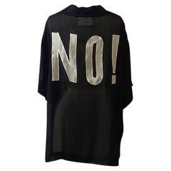 Moschino Couture Black Silk Crepe No! Blouse