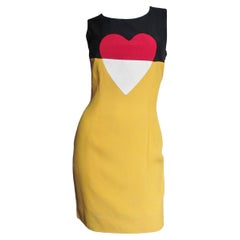 Moschino Couture Color Block Heart Dress