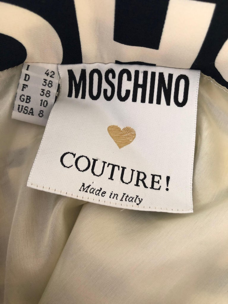 Moschino Couture  Iconic 1980s Fashion Fashoff Mini Skirt  In the collections of museums worldwide, this is a quote from the Museum at FIT.