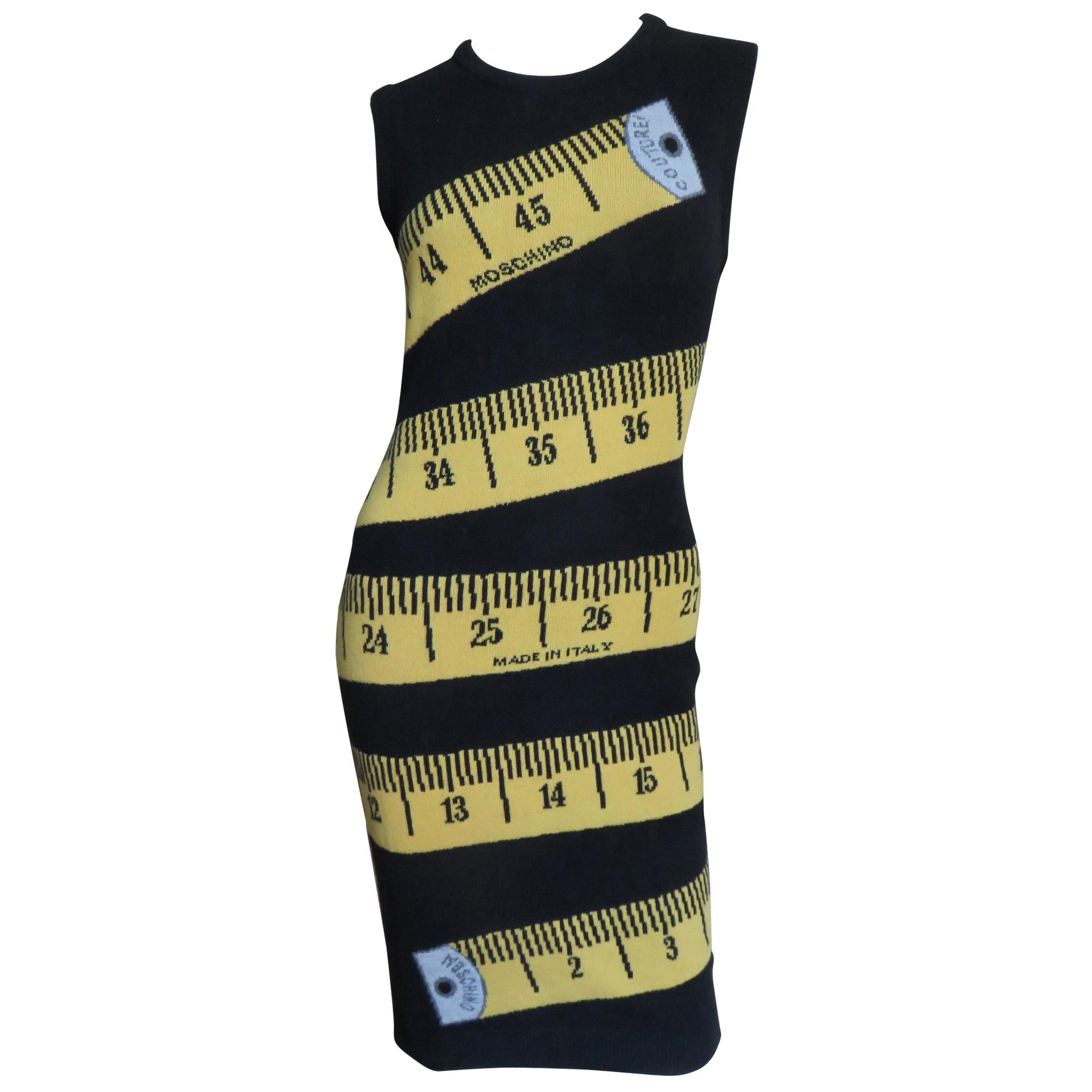 Moschino Couture Jeremy Scott Measuring Tape Dress