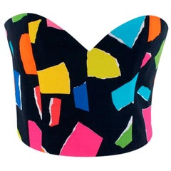 Moschino Couture Multicoloured Tie-Back Bustier Top - Size US4