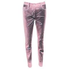 Moschino Couture Pink Trompe-L'oeil Denim Printed Skinny Jeans M