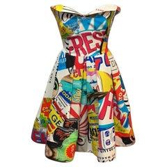 Moschino Couture Powerpuff Girls Strapless Dress
