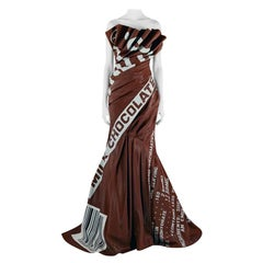 Moschino Couture Rare Hershey Chocolate Bar Runway Gown   NWT