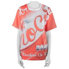 Moschino Couture Red Soda Can Printed Cotton Oversized T Shirt XS