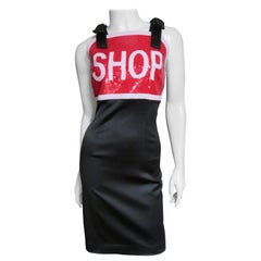 Moschino Couture Sequin SHOP Sign Dress