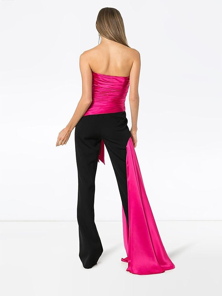 Women's Moschino Couture Silk Bustier Tux Jumpsuit  Holiday Special Event Dressing   NWT For Sale