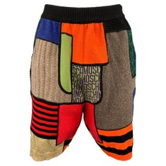MOSCHINO COUTURE Size 6 Multi-Color Virgin Wool High Waisted Shorts