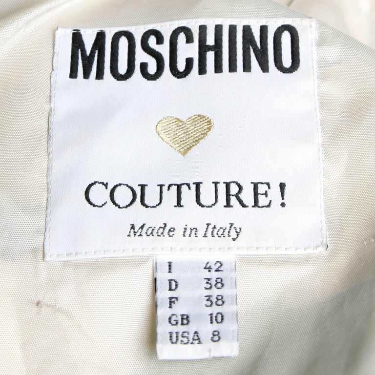 Moschino Couture! Vintage Silk Pastel Cartoon Animal Print Dress In Excellent Condition For Sale In Sparks, NV