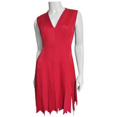 Moschino Dress with Car Wash Hem