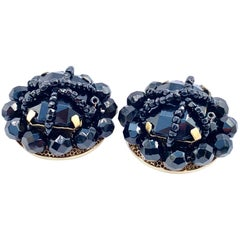 MOSCHINO Earrings Vintage 1980s Clip On