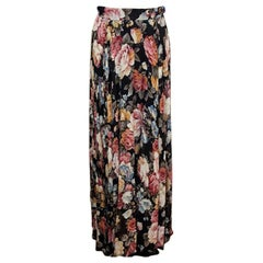 Moschino Floral Knife Pleat Maxi Long Skirt
