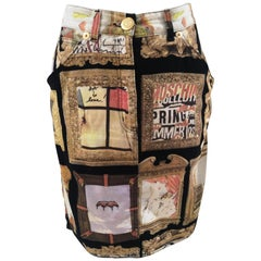 Moschino Frames Cotton Skirt