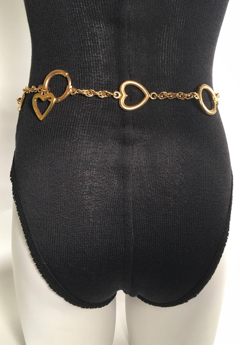 Moschino Gold Charm Chain Belt For Sale 1