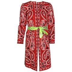 Moschino handkerchief print coat
