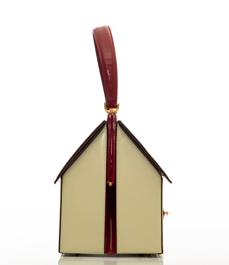 Moschino Haus geformte Griff an der Oberseite Lederhandtasche, ca.: 1991 3
