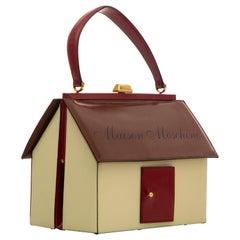 Moschino House Shaped Top Handle Leather Handbag, Circa: 1991