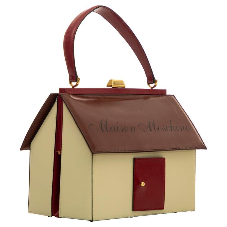 Moschino Haus geformte Griff an der Oberseite Lederhandtasche, ca.: 1991 1