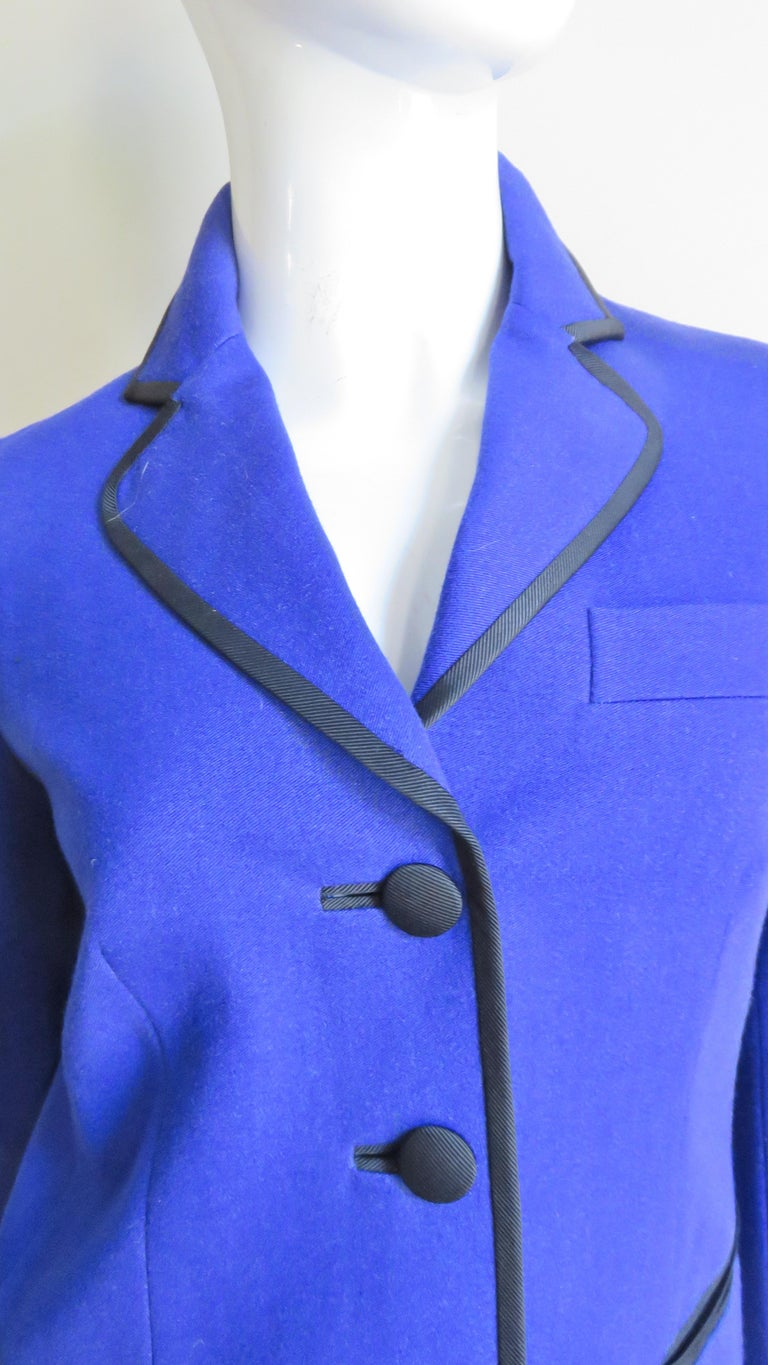 Women's Moschino Pant Suit with Embroidered Eyes in Back For Sale