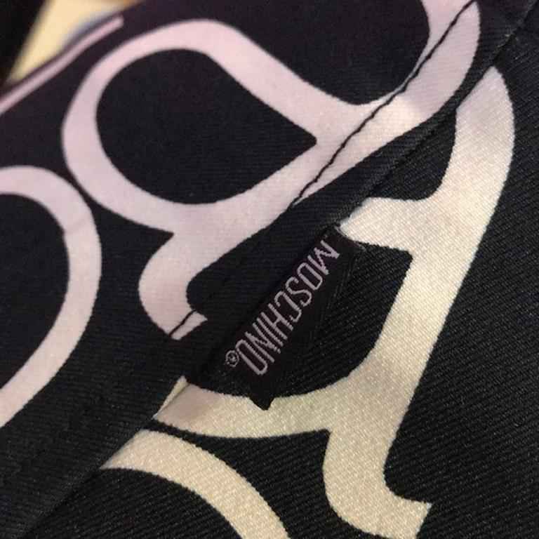 Women's Moschino Jeans Black White Allover Mini Skirt For Sale
