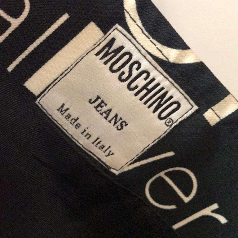 Moschino Jeans Black White Allover Mini Skirt For Sale 5