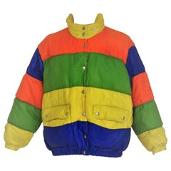 Moschino jeans multicolured bomber jacket