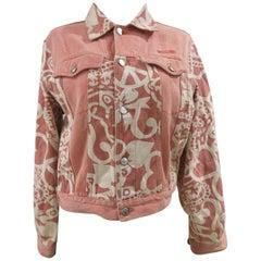 Moschino junior white pink cotton jacket