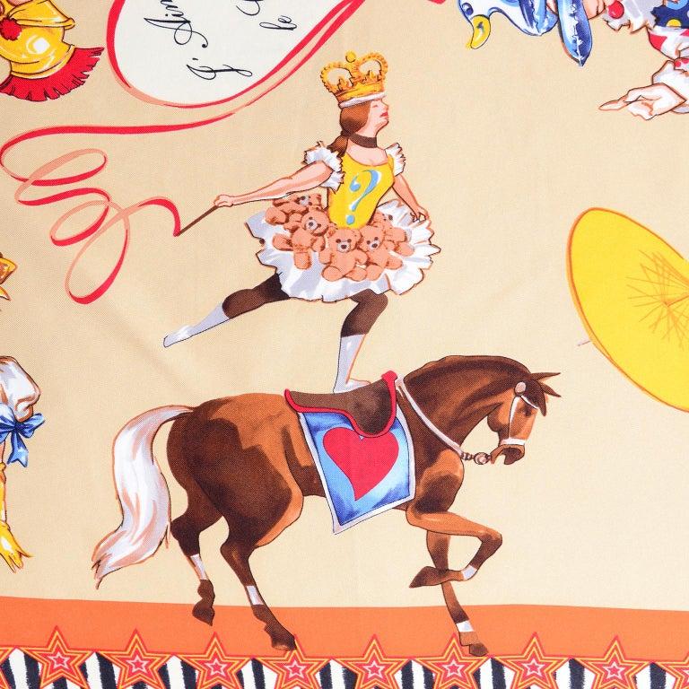 Moschino Larioseta Scarf J Aime le Cirque de la Mode I love the fashion Circus 6