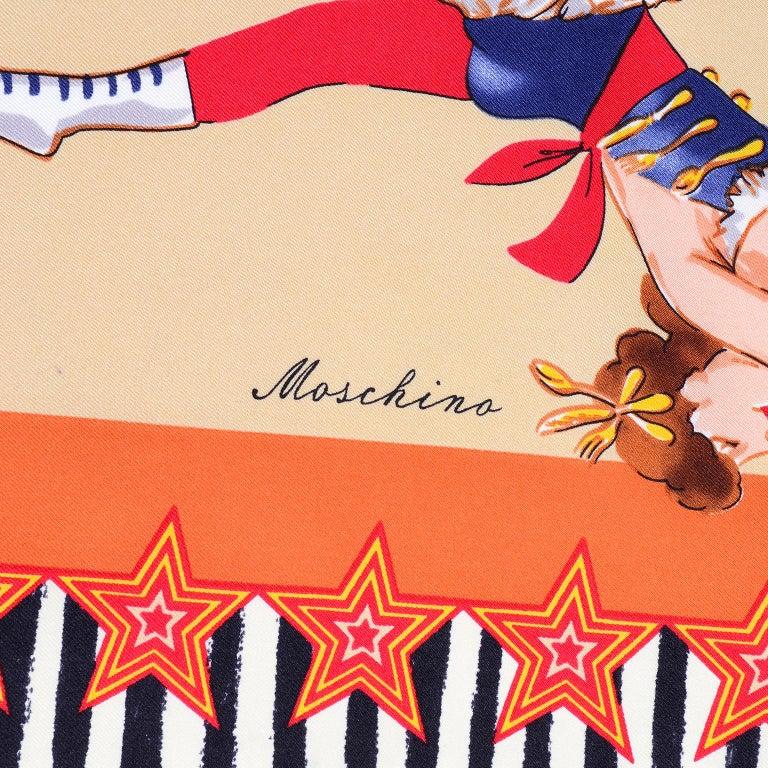Moschino Larioseta Scarf J Aime le Cirque de la Mode I love the fashion Circus 9
