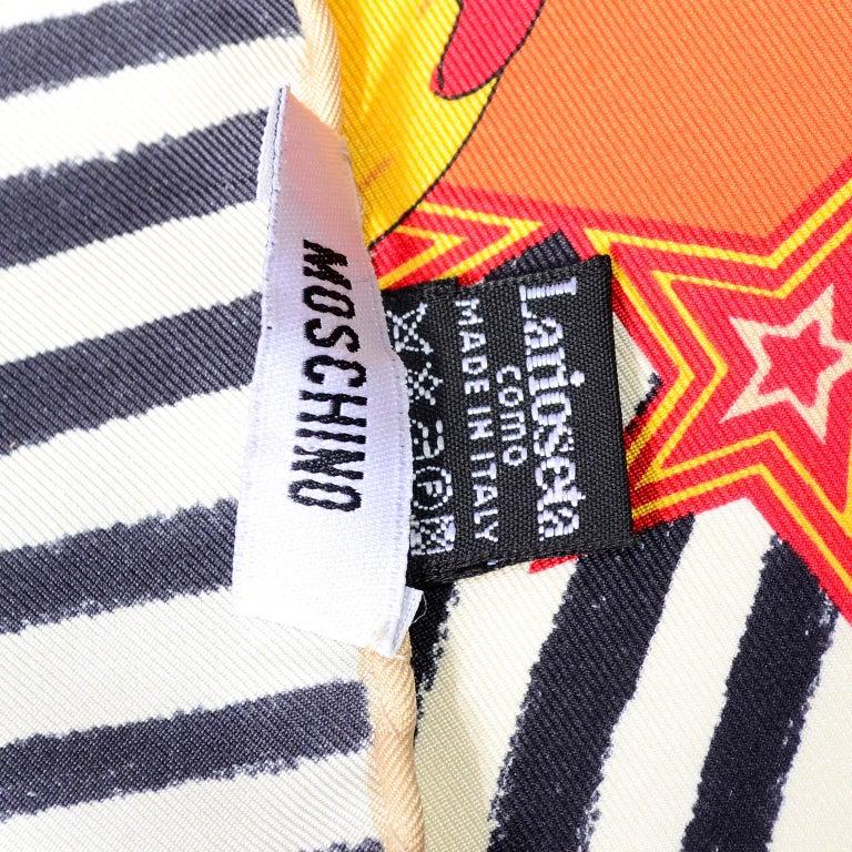 Moschino Larioseta Scarf J Aime le Cirque de la Mode I love the fashion Circus 11