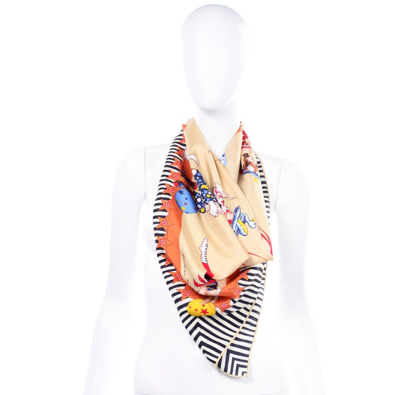 This is a beautiful silk Moschino