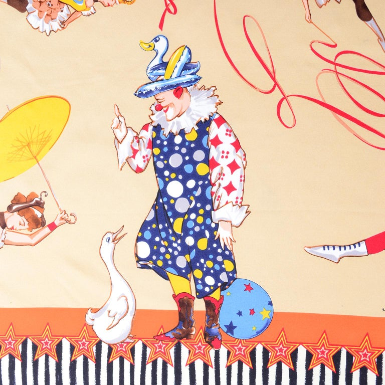Moschino Larioseta Scarf J Aime le Cirque de la Mode I love the fashion Circus 1