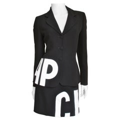 Moschino Letter Applique Skirt Suit