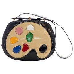 Moschino Limited Edition Black Patent Artist's Palette Handbag, Circa: 1990's