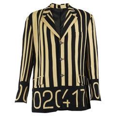Moschino Men's Rare Vintage Barcode Print Blazer Jacket, 1990s