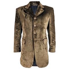 Moschino Mens Vintage Brown Velvet Blazer - S