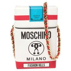 Moschino Multicolor Leather Fashion Kills Shoulder Bag