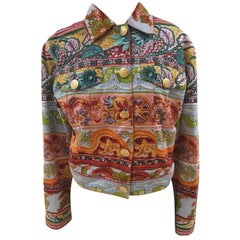Moschino Multicoloured Denim Jacket