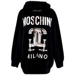 Moschino Oversize Logo Black Hoodie S