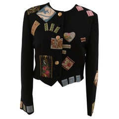 Moschino Patches Black Wool Jacket
