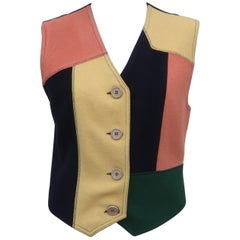 Moschino Patchwork Wool Vest