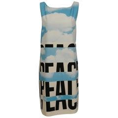 Moschino Peace Cloud Print Sleeveless Dress US Size 10
