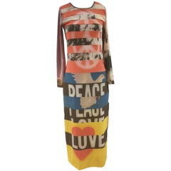 Moschino Peace Long Dress