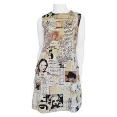 Moschino Photo Print Velvet Dress